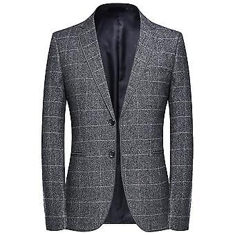 Allthemen mannen ' s Plaid slim fit casual herfst Suit jas