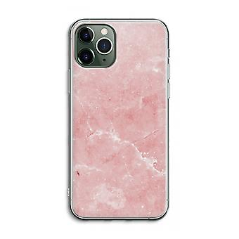 iPhone 11 Pro Max transparant geval (zacht)-roze marmer