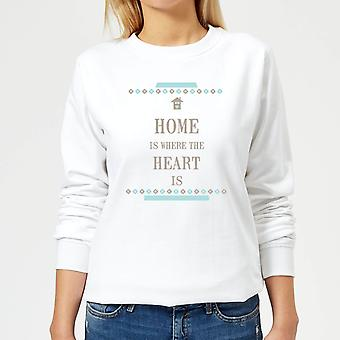 Home Is Where The Heart Is Women's Sweatshirt - White
