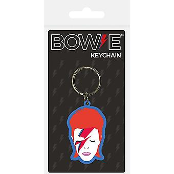 David Bowie Aladdin sane ansikte PVC-nyckelring (BST)