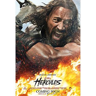 Hercules Original Movie Poster - Fire And Flames Style Double Sided Advance