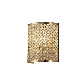 Diyas Ava Wall Lamp Rectangle 2 Light French Gold/Crystal