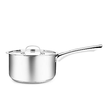 Penguin Home Professional Induction-Safe Saucepan with Lid, Stainless Steel