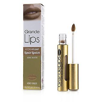 Grande Cosmetics (GrandeLash) GrandeLIPS Plumping Liquid Lipstick (Semi Matte) - # Honey Ginger 4g/0.14oz