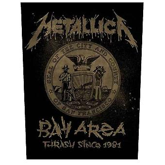 Metallica Back Patch Bay Area band logo Official New  Woven (36cm x 29cm)