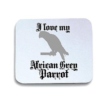 White pad mouse pad gen0516 African grey parrot