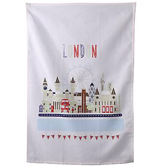 London Icons Design Cotton Tea Towel
