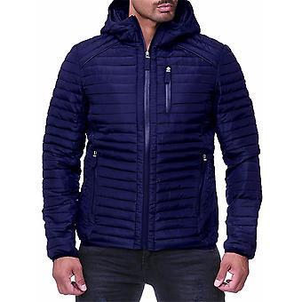 Allthemen Men's Stile corto con cappuccio casual giacca imbottita