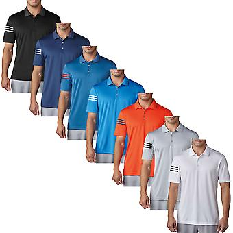 Adidas Heren ClimaCool 3-Stripes Club Crestable Golf Polo