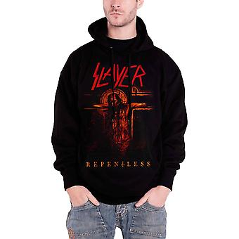 Slayer Repentless Crucifix logo new official Mens Black Pullover Hoodie