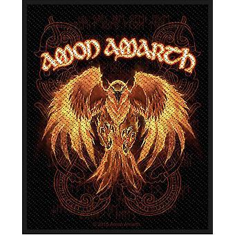 アモン Amarth パッチ フェニックス バンド ロゴ公式黒金属不織布で縫う