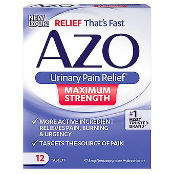 Azo maximum strength urinary pain relief, tablets, 12 ea