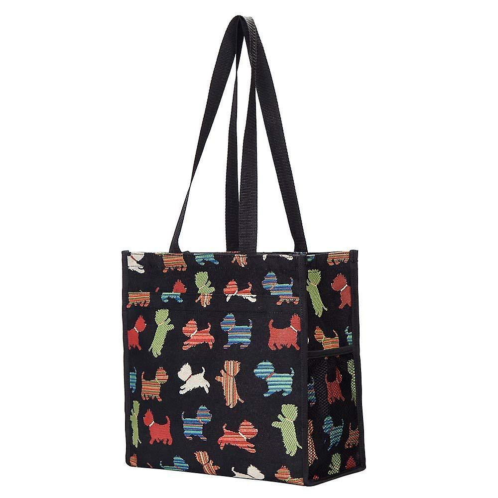 Playful puppy reusable shopper bag by signare tapestry / shop-puppy