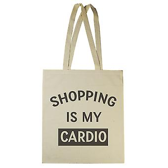 Shopping Is My Cardio - Canvas Tote Shopping Bag