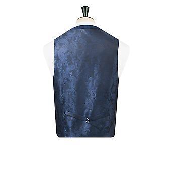 Dobell Boys Blue Tartan Waistcoat Regular Fit