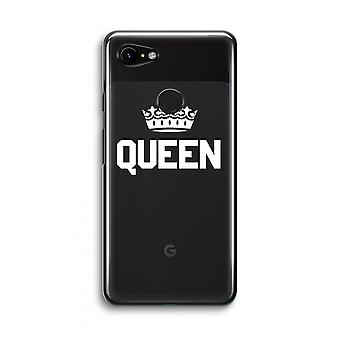 Google Pixel 3 Transparent Case (Soft) - Queen black
