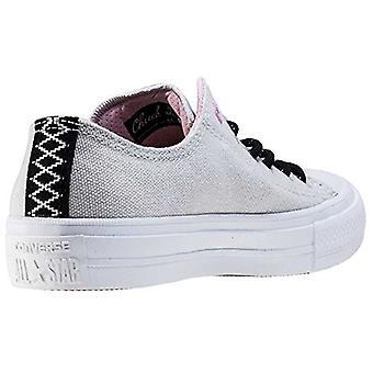 Converse Unisex CTAS II 154015C sneakers muis/wit/CY roze UK 4