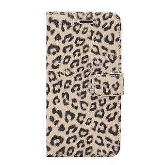 Para Samsung Galaxy S9 PLUS Wallet Case, Leopard Standard Leather Cover, Brown