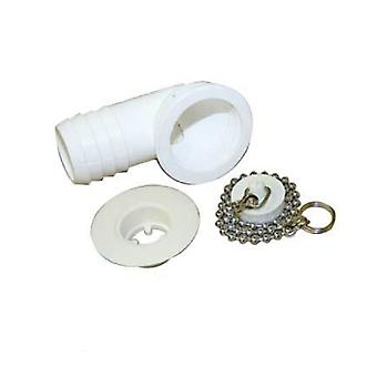 Miriad 2.5cm Angled Shower Waste Fitting