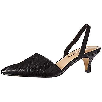 Bella Vita Women's Sarah II Slingback Dress Shoe Shoe, Black Snake, 8 N US