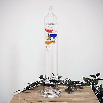 Widdop Bingham Galileo Thermometer 33cm Multi Colour 5 Bulbs 16 - 26 C