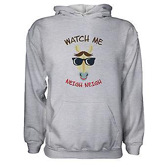 Herre Sweatshirts Hættetrøje- Se mig - Neigh Neigh