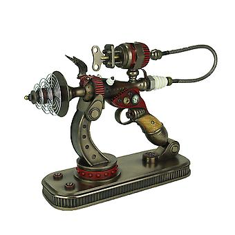 Steampunk De-Optimizer Gun In Display Stand