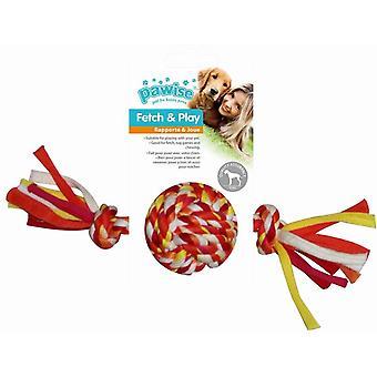 Pawise Mordedor Trenzado Multicolor pelota (Perros , Juguetes y deporte , Pelotas)