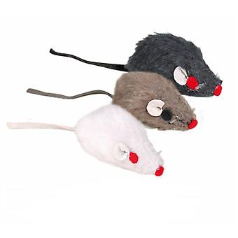 Trixie Plush Mice with Bell (Cats , Toys , Mice)