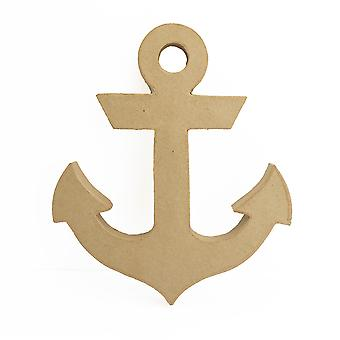 23.5cm Paper Mache Freestanding Anchor Shape to Decorate