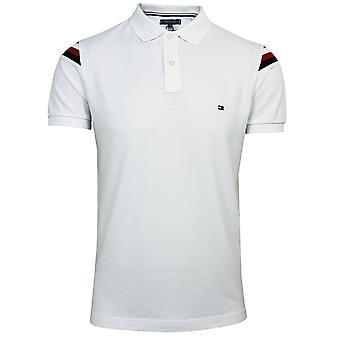 טומי הילפיגר גברים ' זה כתף לבנה gs להוסיף חולצת פולו רזה