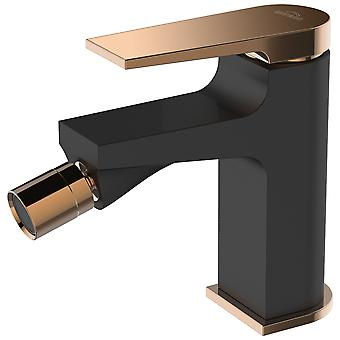 Black/Rose Gold Brass Bathroom Bidet Faucet Mixer Tap + Click-Clack Plug