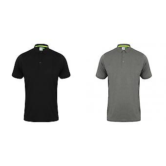 Tombo Mens collier court chemise Polo à manches courtes