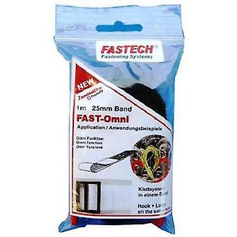 FASTECH® 671-330-Bag Hook-and-loop tape sew-on Hook and loop pad (L x W) 1000 mm x 25 mm Black 1 m