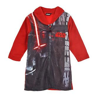 Star wars boys dressing gown robe red