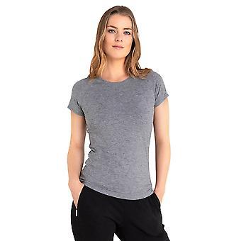 Calvin Klein Womens 2021 Vibe Crew Gebogen Hem Korte Mouw ademend T-shirt