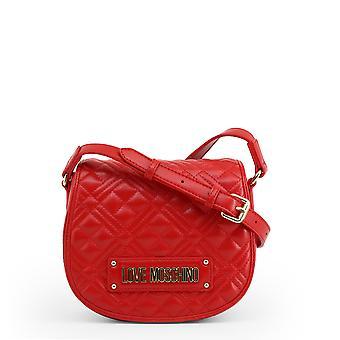 Love Moschino Original Mujeres Primavera/Verano Crossbody Bolso Rojo Color - 70818