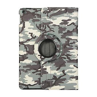 Fodral iPad 10.2 (2019) 7:th gen 360 rotation Kamouflage - Grå