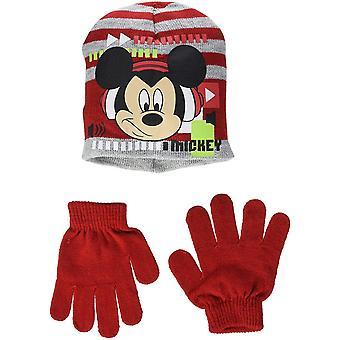 Disney Musse Pigg pojkar Set med mössa, hatt & handskar