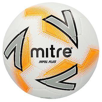 Mitre Impel Plus Fußball Fußball Spiel Training Ball Weiß/Orange