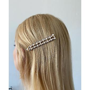 Hair clip with rhinestones and beads