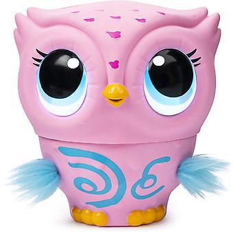 Owleez interaktiivinen lelu valot ja äänet (vaaleanpunainen)