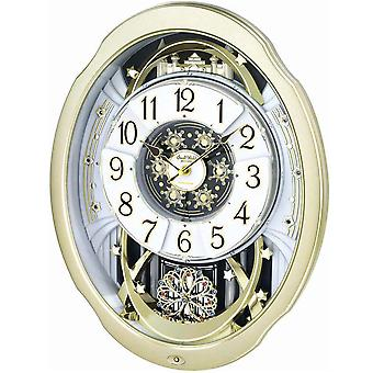 Rhythm 7842 Wall Clock MAGIC MOTION movable dial melodies