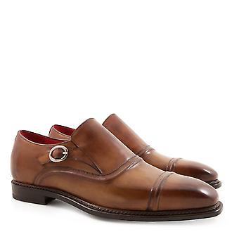 Men's monkstrap loafers Handmade in genuine leather