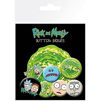Rick and Morty Characters Pin Button Badges Set
