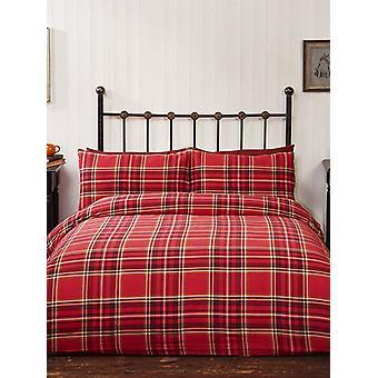Campbell Red Tartan Brushed Cotton Duvet Cover Set