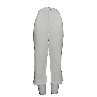 Denim & Co. Women's Pants Comfy Knit 5-Pocket Crop White A264207