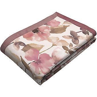 Blush rosa veludo floral jogar cobertor