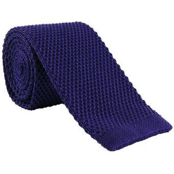 Eingewandt London dünn Seide gestrickte Krawatte - lila