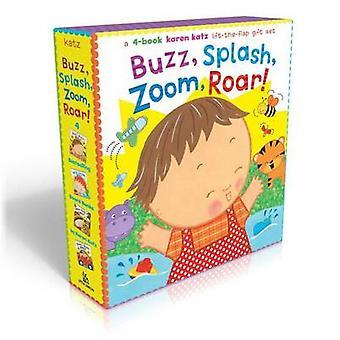 Buzz - Splash - Zoom - Roar! - 4-Book Karen Katz Lift-The-Flap Gift Se